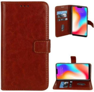 Huma World Flip Cover for Samsung Galaxy J7(16)(Brown, Dual Protection)