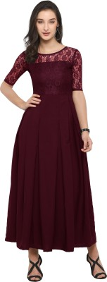 SHEETAL ASSOCIATES Women A-line Maroon Dress