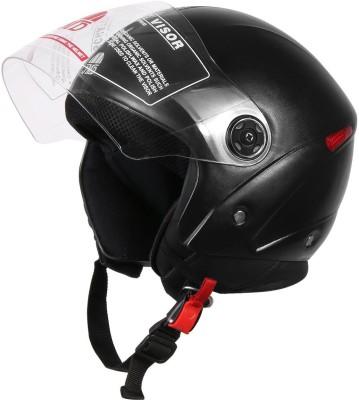 JMD WONDER Black M/L Half / Open Face Motorbike Helmet(Black)