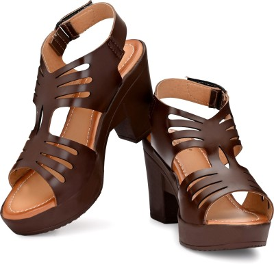 GrienYrus Women Brown Heels