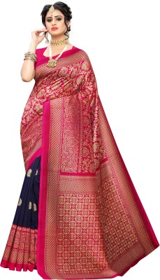 Fabwomen Self Design Mysore Art Silk Saree(Pink)