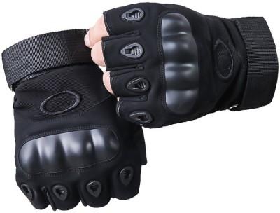 NIRVA Half Finger Tactical Hard Knuckle Ridding Gloves Riding Gloves(Black)