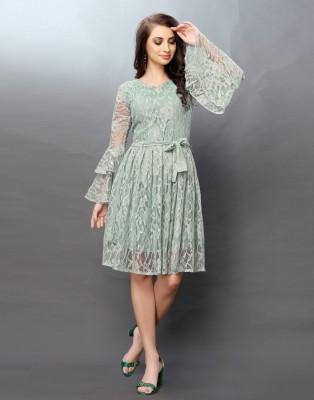 Selvia Women Gathered Green Dress