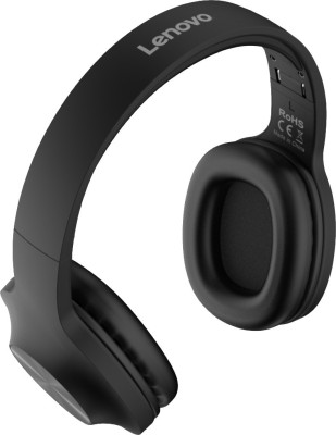 Lenovo HD116 Bluetooth Headset(Black, On the Ear)
