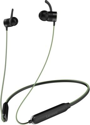 Lenovo HE18 Bluetooth Headset  (Green, Wireless in the ear)