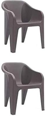 Nilkamal Plastic Outdoor Chair(brown)