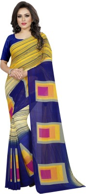 BABA Fab Woven Bollywood Georgette Saree Multicolor