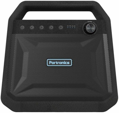 Portronics POR-549 ROAR 24 W Bluetooth Party Speaker(Black, Stereo Channel)