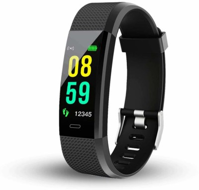 Rewy ID115 Multi-functioning smart band(Black Strap, Size : Free SIze)