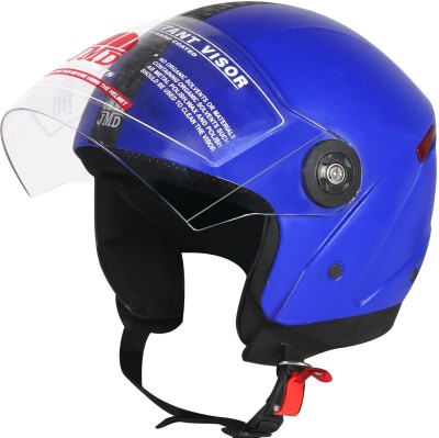 JMD WONDER BLUE M/L, Half / Open Face Motorbike Helmet(Blue)
