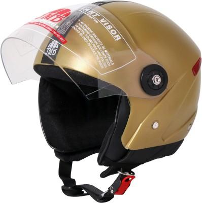 JMD WONDER GOLDEN M/L, Half / Open Face Motorbike Helmet(GOLDEN)