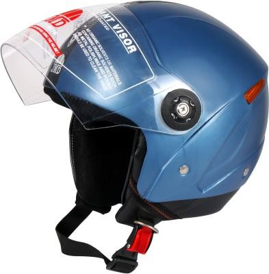 JMD WONDER CYAN BLUE M/L, Half / Open Face Motorbike Helmet(CYAN BLUE)