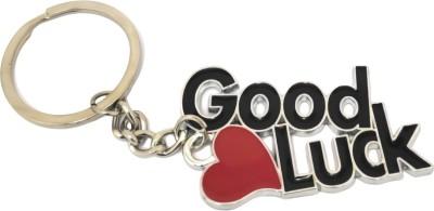 GCT Good Luck Heart (Design-1) Black Red Metal Keychain for Car Bike Men Women Keyring Key Chain