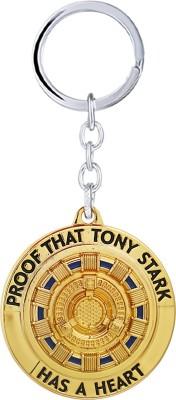 "GCT Iron Man ""Proof that Tony Stark has a Heart"" Marvel Avengers Superhero (Design-12) Shining Gold Metal Keychain Key Chain"
