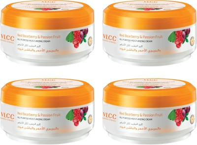VLCC Red Bearberry & Passion Fruit All-Purpose Moisturizing Cream Pack of 4(400 g)