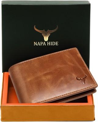Napa Hide Men Tan Genuine Leather Wallet(10 Card Slots)