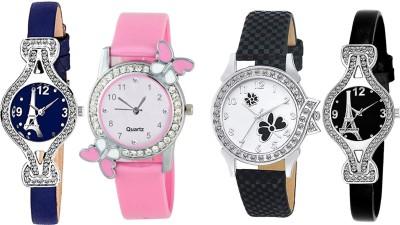 Heeva 12761-2020 Top Brand Luxury 4 Pice Combo Analog Watch For Girl For-Women Analog Watch  - For Women