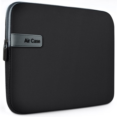 AirCase 15.6 Inch Laptop Sleeve, Protective, Neoprene Laptop Bag(Black)