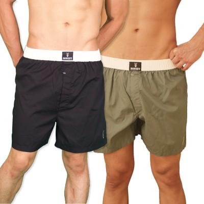 DONKEY Solid Men Boxer(Pack of 2)