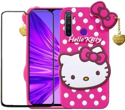 Calosc Back Cover for Samsung Galaxy G355/Core 2 With Free 11D Tempered Glass(Pink, 3D Case)