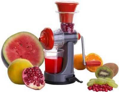 Home Turf Plastic Hand Juicer Mini Juicer_Red(Red Pack of 1)