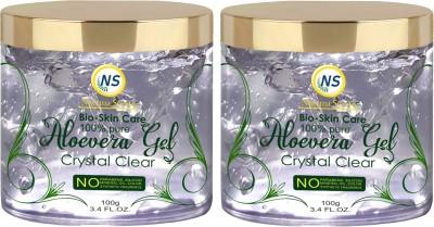 Nuerma Science Bio Skin Care Aloe Vera Gel Great for Face, Hair, Sunburn Relief, Dry Winter(120 g)
