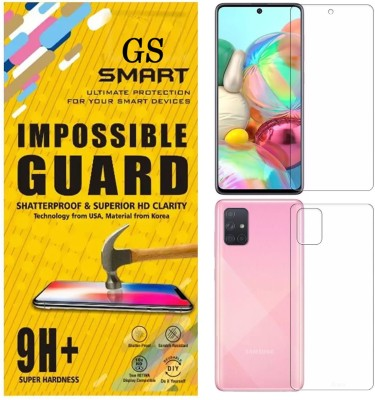 GS SMART Front and Back Tempered Glass for Samsung Galaxy A81, Samsung Galaxy A91, Samsung Galaxy A71, Samsung Note 10 Lite(Pack of 2)
