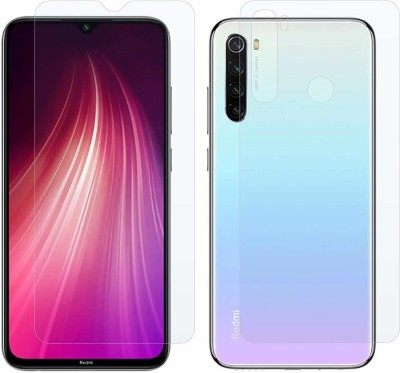 SOLIVAGANT Front and Back Tempered Glass for redMi Note 8(Pack of 2)