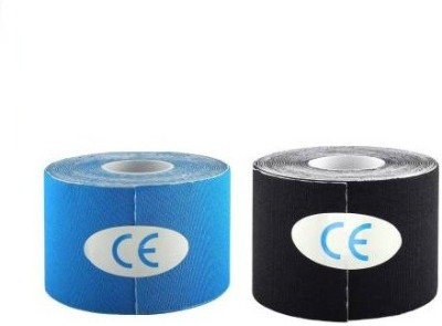 Web Mall Kinesiology Tape (100% Water Resistance) Knee, Calf & Thigh Support(Black, Blue)