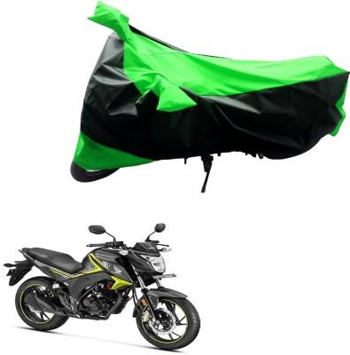JVG Two Wheeler Cover for Honda(Black, Green)