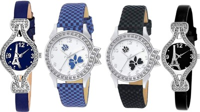 Heeva 16127-Most Selling 4 Pice Wist Watch Analog Watch For Girl For-Women 4 Pice Combo Analog Watch  - For Women