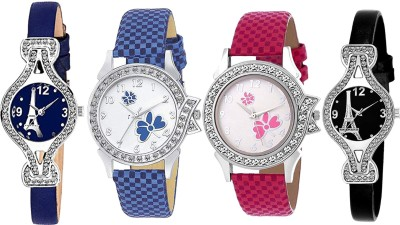 Heeva 12761-Most Popular 4 Pice Combo Analog Watch For Girl For-women Analog Watch  - For Women
