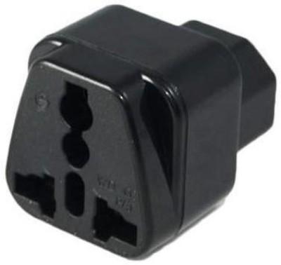 TECHUT IEC C14 to Universal Female AU US UK EU C13  1  2in1  Adapter Power Plug/Socket Worldwide Adaptor Black TECHUT Laptop Accessories
