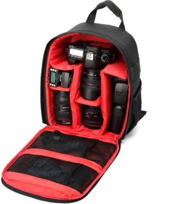 World Look DSLR SLR Camera Lens Shoulder Backpack Case Olympus Camera Bag Camera Bag (Black & Red)  Camera Bag(Black & Red)
