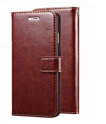Cellshop Flip Cover for Vivo Y95(Brown, Cases with Holder)