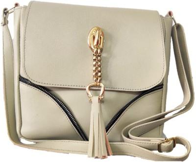 style bits Women Silver Sling Bag