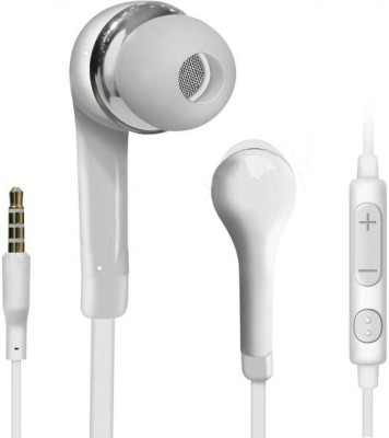 Case Finder YR Earphone Headsets With Mic and Volume Control For Galaxy Galaxy S4 Mini Wired Headset(White, Wireless in the ear)