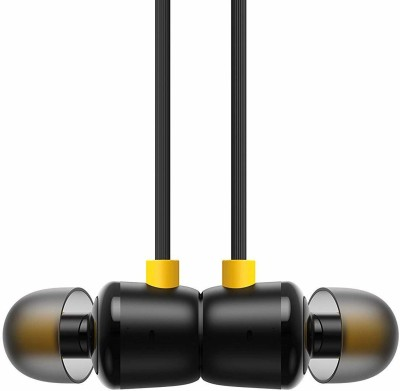 DICSOO All Mobile Headset Sport Magnetic Stereo with Mic Wired Headset(Black, In the Ear)