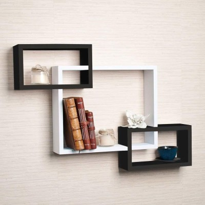 Online Craftbuzz MDF Intersecting Wall Shelves Home Decorative Furniture for Home MDF...