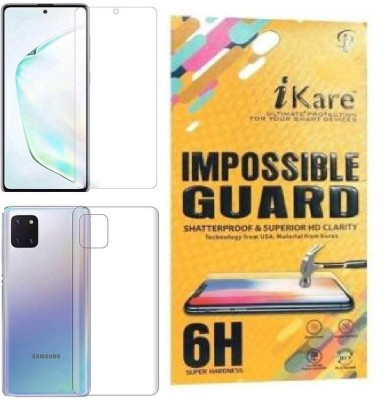 iKare Front and Back Screen Guard for Samsung Galaxy Note 10 lite(Pack of 2)
