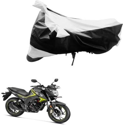 JVG Two Wheeler Cover for Honda(Black, Silver)