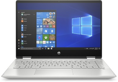 HP Pavilion x360 Core i7 10th Gen - (8 GB/512 GB SSD/Windows 10 Home) 14-dh1180TU 2 in 1 Laptop(14 inch, Mineral Silver, 1.58 kg, With MS Office)