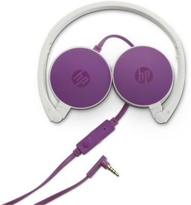 HP H2800 Wired Headset with Mic(Purple, On the Ear) 1