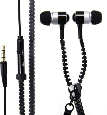 Cospex Silco Universal ZipperStyle Wired Wired Headset(Multicolor, In the Ear)
