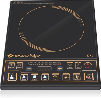 BAJAJ Majesty ICX 7 Induction Cooktop(Black, Push Button)