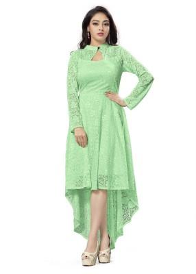 MAA ENTERPRISE Women A-line Green Dress