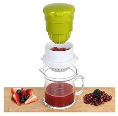 Avsar Plastic Hand Juicer Plastic Hand Juicer 2 in One Orange & Grapes Multi Use Juicer Small Size(Green)