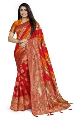 Rukha fab Digital Print Bollywood Jacquard Saree(Multicolor)