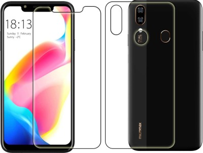 Duepio Front and Back Screen Guard for MICROMAX INFINITY N12(Pack of 2)