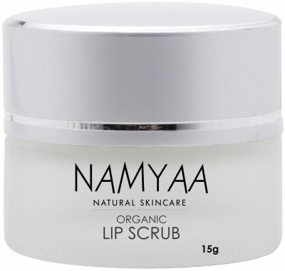 Namyaa Organic Lip Scrub for Smooth, Soft & Tempting Lips with Coconut, Glycerin and Other Natural Ingredients Scrub(15 g)